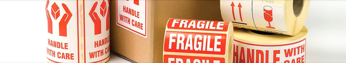 Special labelling for fragile items