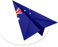 Airmail plane with Australia flag
